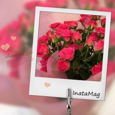 お客様から素敵なバラの花束をいただきました。ありがとうございます